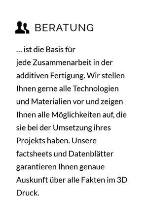 3D Druck Beratung