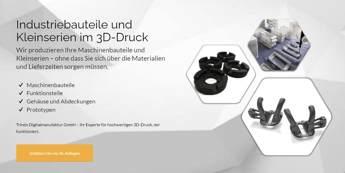 3D Druck Hof |  trindo ➤ Additive Fertigung, Profi 3D Druckservice / ✓ Prototypenbau