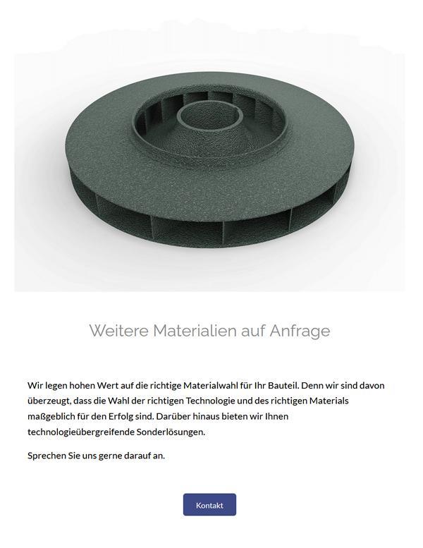 3D Materialien Kunststoffdruck