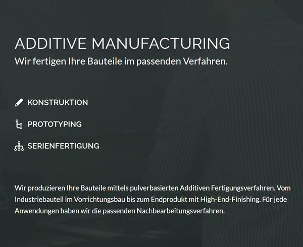Additive Manufacturing & Fertigung