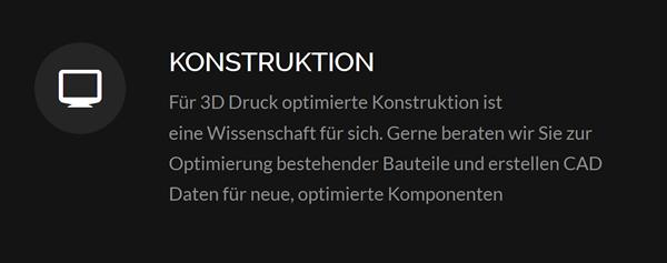 Konstruktion 3D Druck bei  Hagen (Teutoburger Wald)