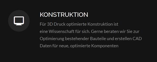 Konstruktion 3D Druck