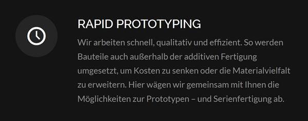 Rapid Protoyping im Raum  Niedersachsen