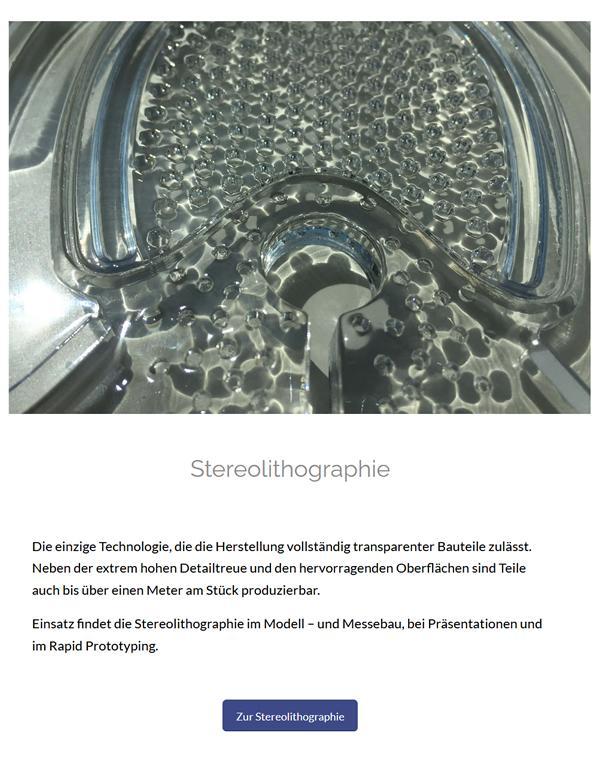 Stereolithographie im Raum  Niedersachsen